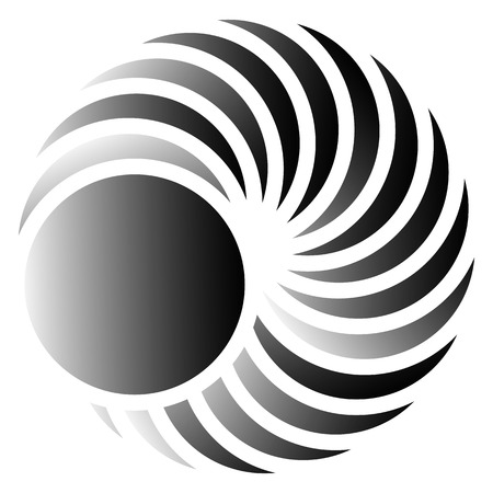 revolve: Circular element - Abstract geometric element with rotating circles Illustration
