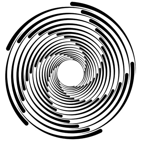 whorl: Spiral, vortex, whorl, swirl shapes. Abstract element(s). Illustration