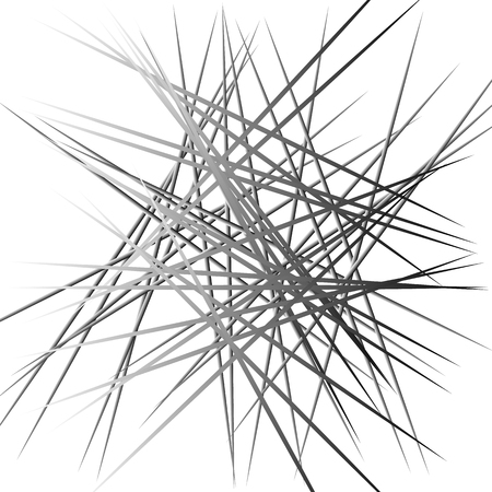 Abstract chaotic lines pattern. Intersecting, random lines artistic image. Illustration