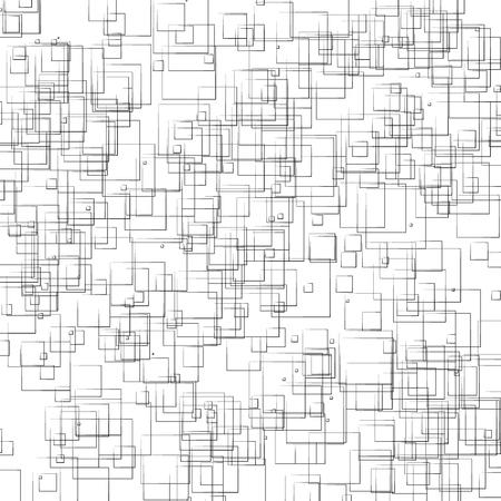 Random, scattered shapes geometric monochrome illustration / pattern. 일러스트