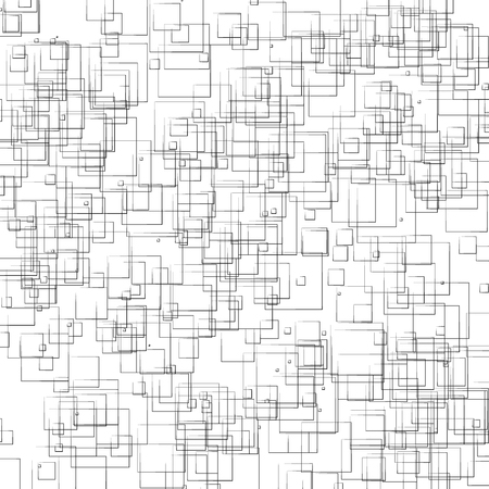 Random, scattered shapes geometric monochrome illustration / pattern. 矢量图像