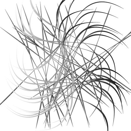 entanglement: Abstract chaotic lines pattern. Intersecting, random lines artistic image. Illustration