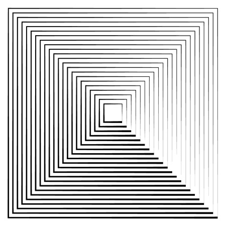 quadrant: Abstract radiating contour lines. Monochrome element isolated on white. Illustration