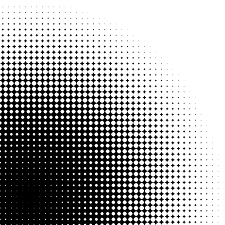 pixelation: Abstract graphic: Halftone element made of 4-point stars