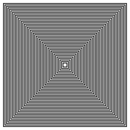 converging: Converging - Radiating Squares. Contour lines of group of squares Illustration