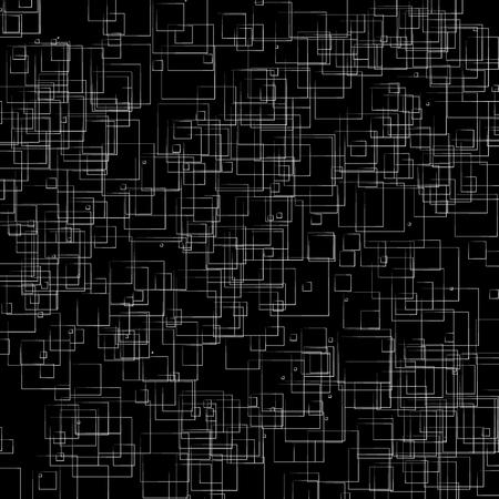 blocky: Random, scattered shapes geometric monochrome illustration  pattern.