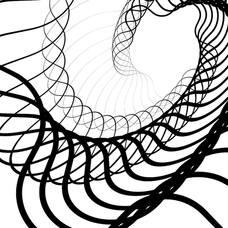 snaky: Abstract random squiggly, spirally lines. Swirling, rotating lines artistic graphic