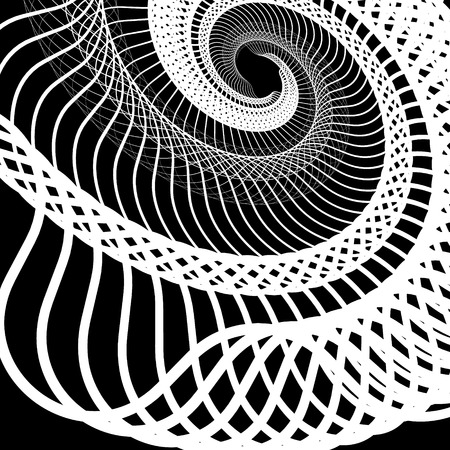 squiggly: Abstract random squiggly, spirally lines. Swirling, rotating lines artistic graphic