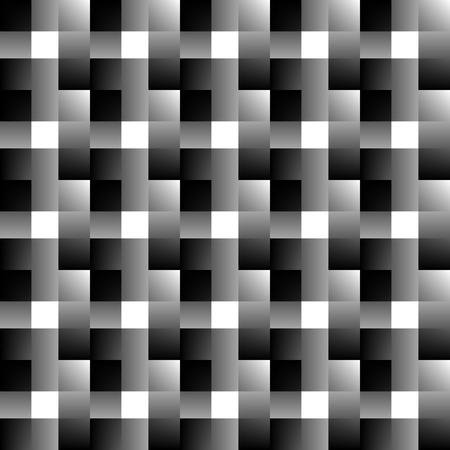 faded: Mosaic of squares. Abstract monochrome background. Overlapping faded rectangles.