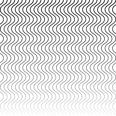 billowy: Wavy, billowy (zigzag) lines. Horizontally repeatable pattern with parallel, distorted lines. Illustration