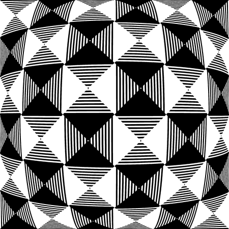 camber: Abstract liny, checkered pattern with distortion effect