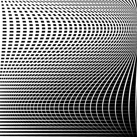 reticulated: Distorted abstract grid, mesh background. Intersecting lines, abstract cellular grid pattern. Reticulated, cellular texture.