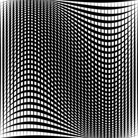 Distorted abstract grid, mesh background. Intersecting lines, abstract cellular grid pattern. Reticulated, cellular texture.