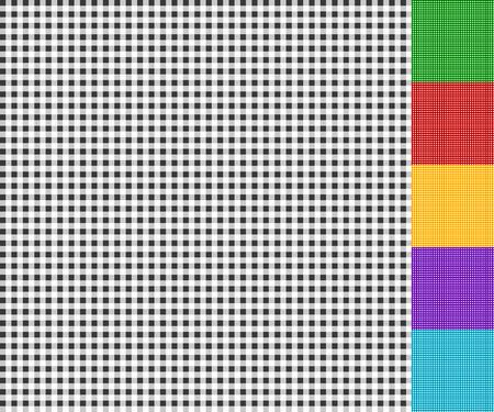 tartan plaid: Seamlessly repeatable tartan plaid background in 6 colors Illustration