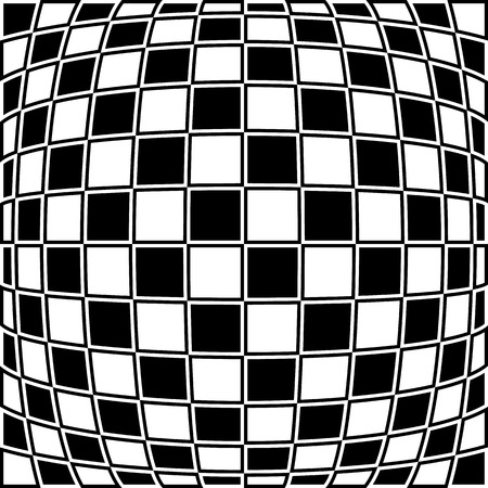 checkered pattern: Checkered pattern with distortion effect. Opposite color border on squares.