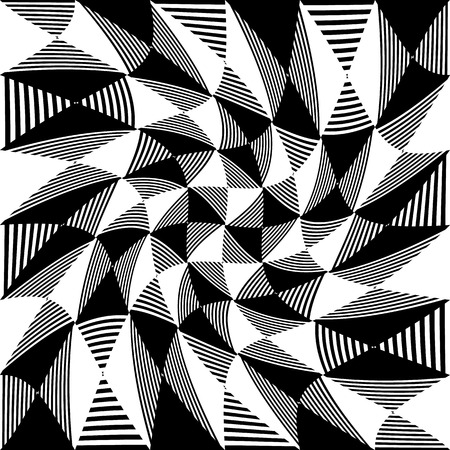 distortion: Abstract liny, checkered pattern with distortion effect