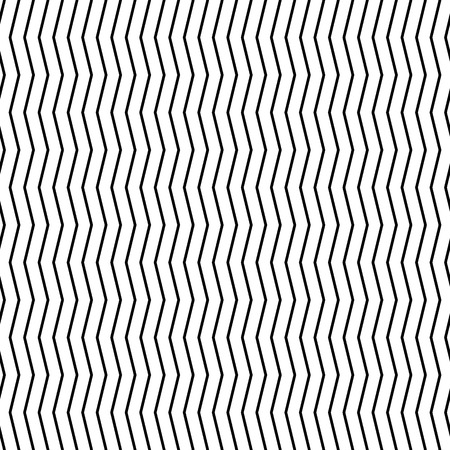 distorted: Wavy, billowy (zigzag) lines. Horizontally repeatable pattern with parallel, distorted lines. Illustration