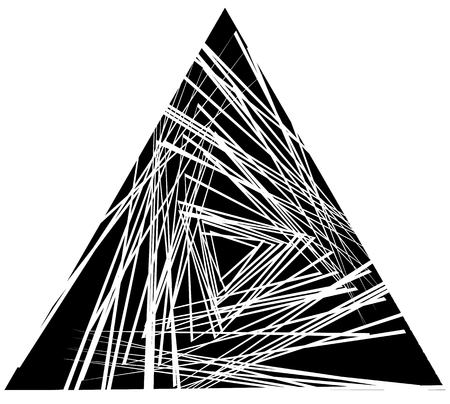 jumbled: Random, scattered triangles. abstract monochrome, geometric graphic, chaotic texture Illustration