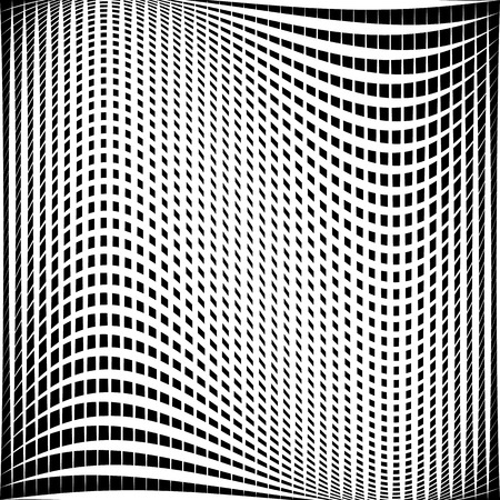 grillage: Distorted abstract grid, mesh background. Intersecting lines, abstract cellular grid pattern. Reticulated, cellular texture.