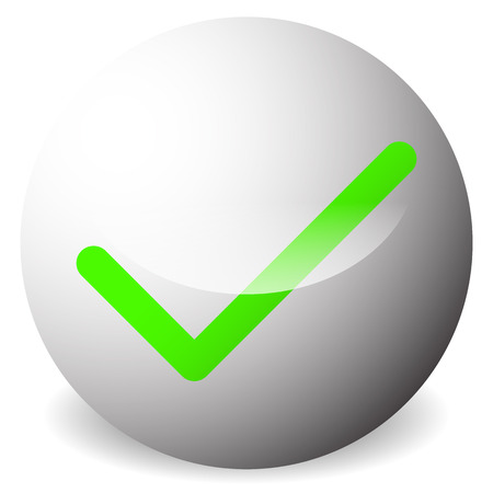 validation: Circle with tick, check mark symbol. Approve, correct, accept, right, validation icon.
