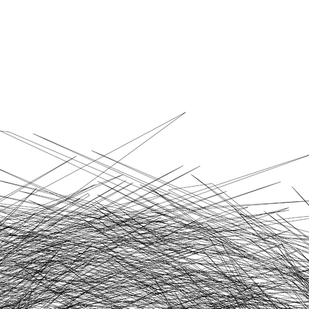 entangled: Entangled texture of thin intersecting lines. Abstract monochrome, black and white background