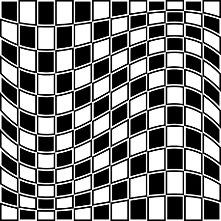 camber: Checkered pattern with distortion effect. Opposite color border on squares.