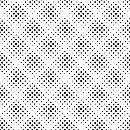 flecks: Seamless pattern with halftone dots. Repeatable geometric monochrome pattern. Illustration