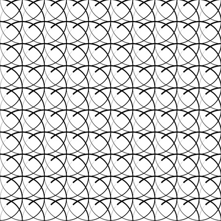 intersecting: Seamless pattern with intersecting circles. Repeatable abstract pattern, background.