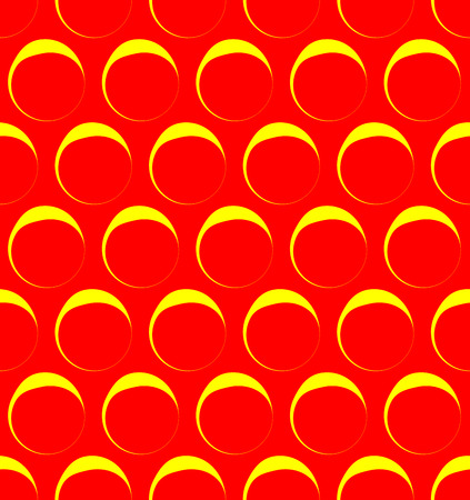 warhol: Seamless pattern with outline circles. Pop art colors.
