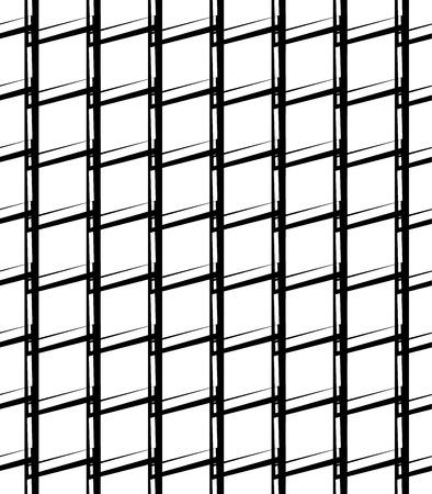 Simple monochrome grid, mesh pattern. Seamlessly repeatable. Illustration
