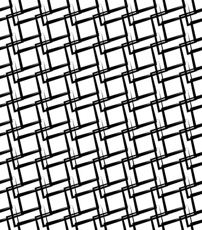 Geometric monochrome pattern, background. (Seamlessly repeatable)  イラスト・ベクター素材