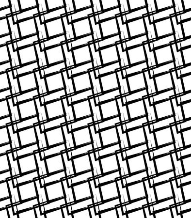 Geometric monochrome pattern, background. (Seamlessly repeatable) Ilustração