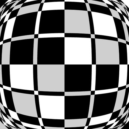 blocky: Checkered, squared mosaic pattern. Abstract geometric illustration.
