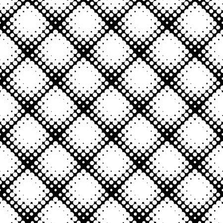 speckled: Seamless pattern with halftone dots. Repeatable geometric monochrome pattern. Illustration