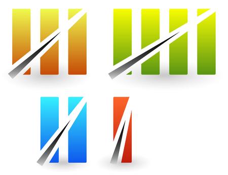 numeros romanos: n�meros romanos de colores, n�meros romanos con la huelga a trav�s de l�neas.