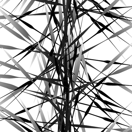 grayscale: Irregular texture of chaotic, grayscale, edgy lines. Random, scattered pattern. Geometric art.
