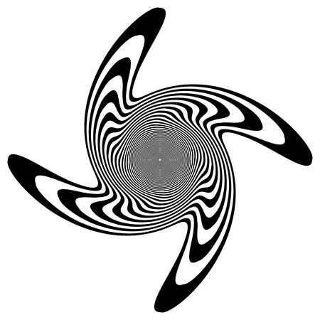 psychic: Abstract spiral, swirl, twirl element. Rotating concentric lines. Illustration