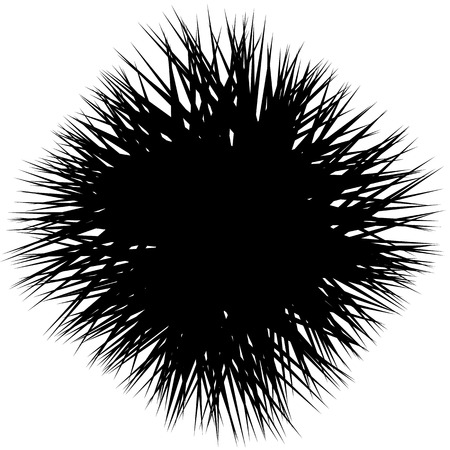edgy: Edgy, sharp shape. Abstract monochrome background with random, pointed lines. Contrasty artistic illustration.