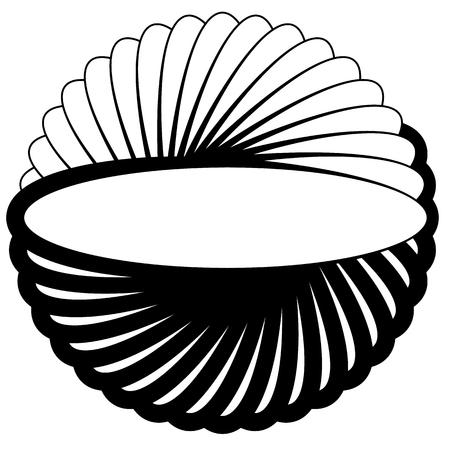 elipse: Silueta de rotación oval, forma de elipse. elemento espiral abstracto.