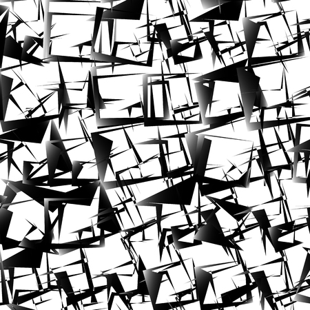 edgy: Abstract edgy, geometric pattern. Chaotic anguar texture. Illustration