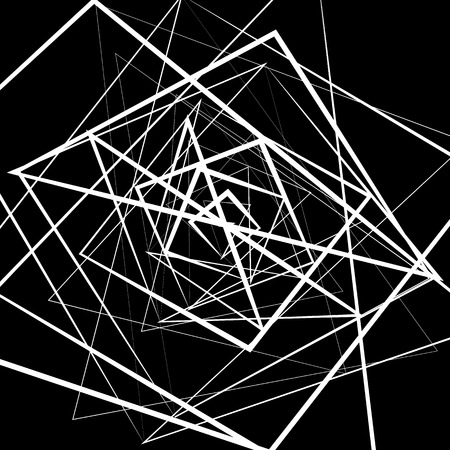 intersecting: Random intersecting lines. Abstract monochrome geometric art. Illustration