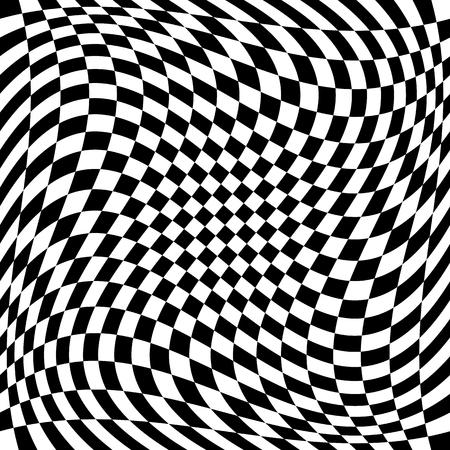 distortion: Checkered pattern with spiral, twirl, swirl distortion effect.