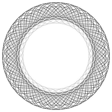 gyration: Circular liny illustration. Abstract circle. Monochrome geometric element.