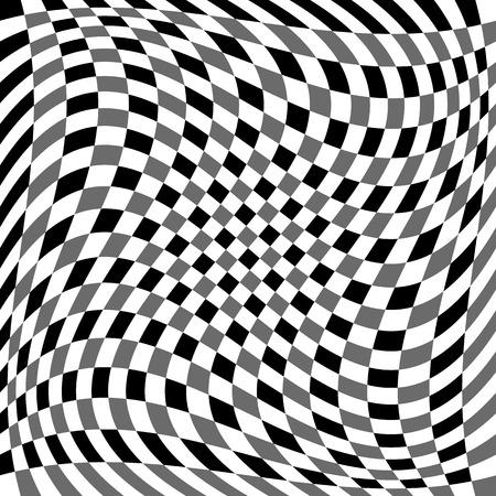 tweak: Checkered pattern with spiral, twirl, swirl distortion effect.