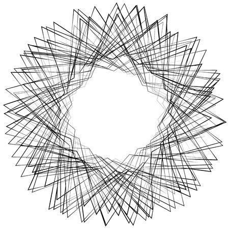disturbance: Monochrome abstract circular, irregular  element on white