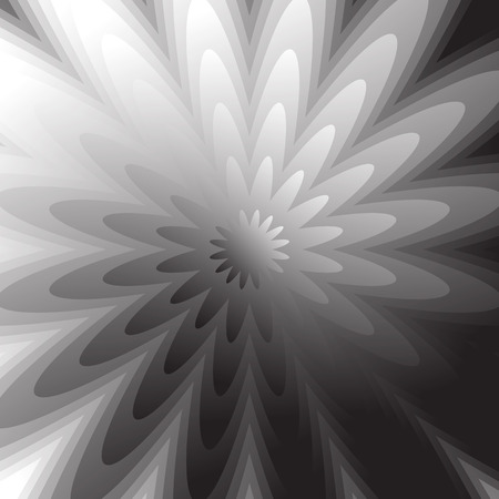 radiating: Abstract grayscale, geometric background in square format with distorted radiating shapes.
