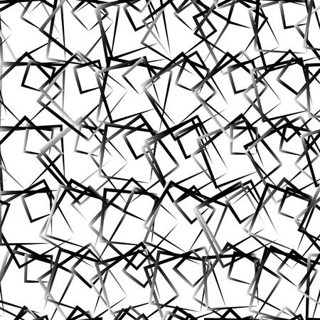 uncolored: Random, scattered squares abstract uncolored geometric pattern