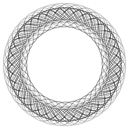 criss: Circular liny illustration. Abstract circle. Monochrome geometric element.