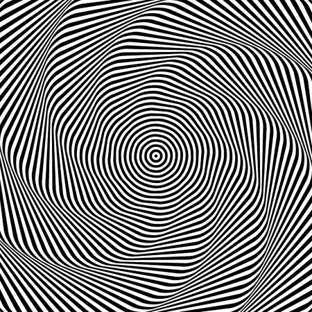 grayscale: Uncolored, grayscale radiating shape with spirally, vortex distortion.