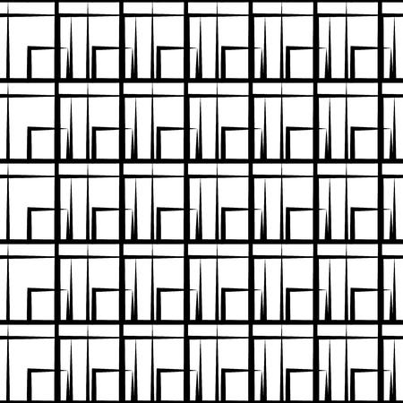 grille irrégulière, motif de maillage avec des lignes irrégulières. Seamlessly répétable.